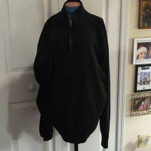 Other - 2XL Men's soft black long sleeve zip up shirt